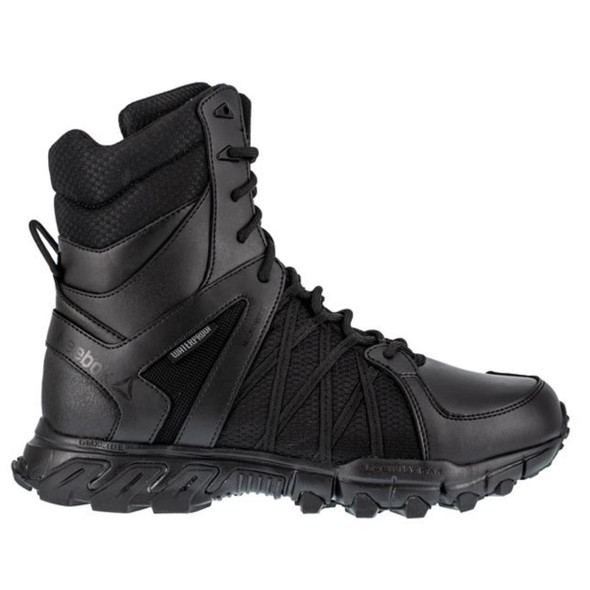 "Reebok RB3455 Men's Trailgrip 8"" Waterproof Tactical Side Zip  Boots"