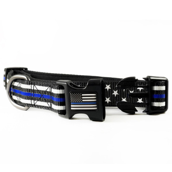 Thin Blue Line Stars & Stripes Dog Collar
