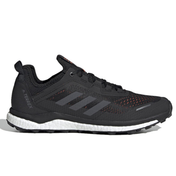 Adidas G26100 Men's Outdoor Terrex Agravic Flow Shoes, Black/GreySix/SolarOrange