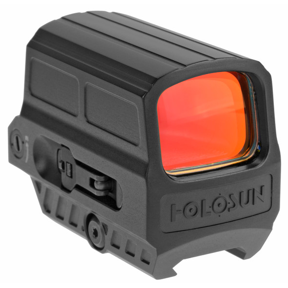 The 512C Enclosed Reflex Sight is built with an aluminum housing, wide field of view and a tool-less battery compartment. This reflex red dot optic equipped with Holosun's Multi-Reticle System (MRS) that includes three reticle choices. A 65 MOA circle dot reticle with the option of switching to a 2MOA dot only and for quick target acquisition, a 65 MOA circle only. The 512C battery life lasts up to 5-years and is equipped with Holosun's Advanced Solar Fail-safe power engine, giving the operator indefinite run time. This optic was designed to take anything you and your environment can throw at it and give back the innovations and performance you need to finish any job.