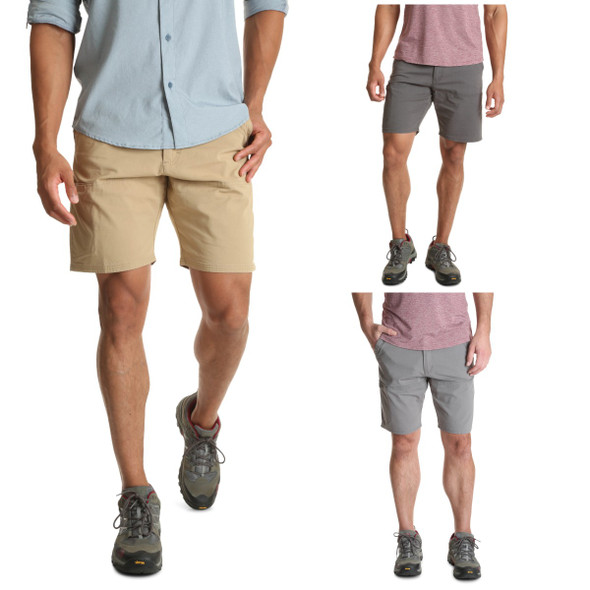 Wrangler Men's Outdoor Flex Waist Side Pocket Utility Shorts