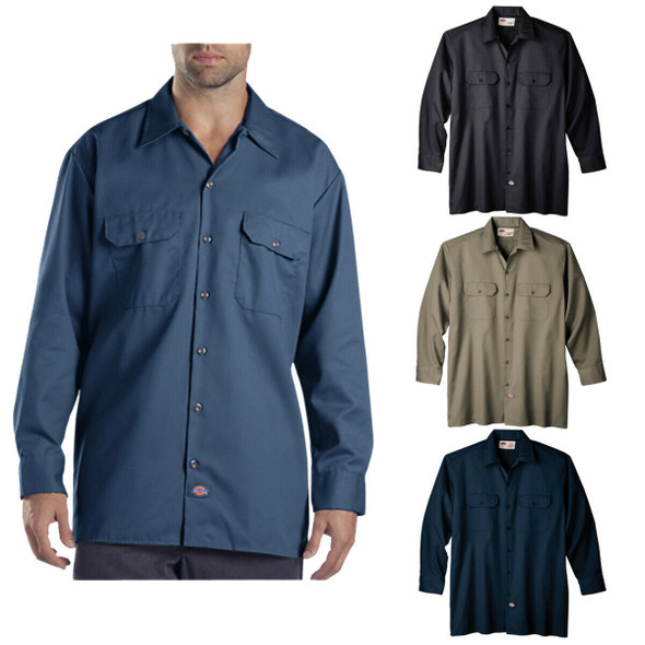 Dickies Men's Long Sleeve Workshirt