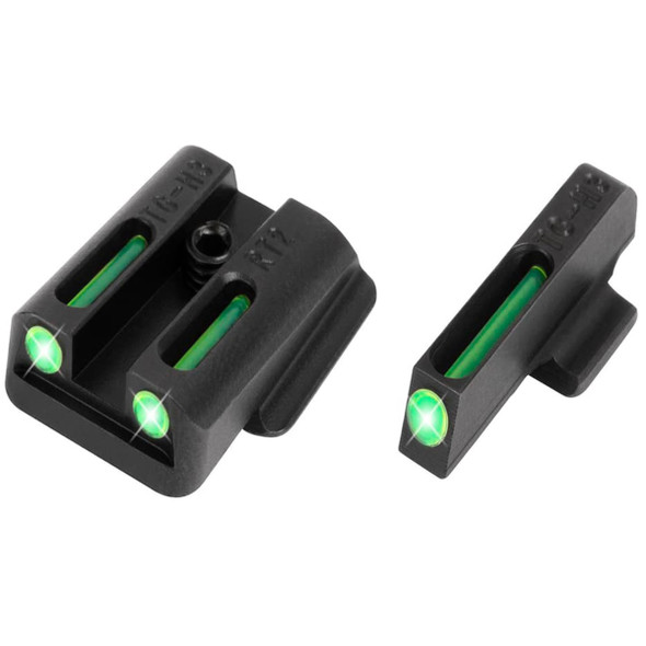 TruGlo TFO Tritium & Fiber Optic Gun Sights Green, Ruger SR 280