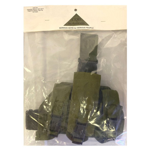 CQB Solutions #165 M16 30rd Magazine Tactical Thigh Rig OD Green
