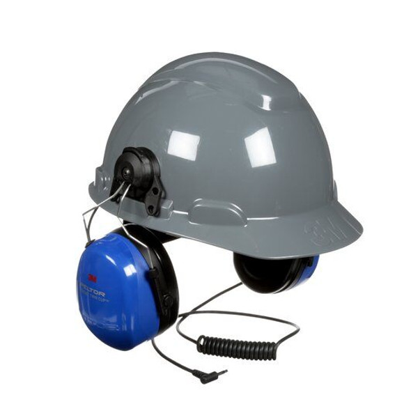 3M Peltor HT Series Listen Only Headset, HTM540P3E-395-BA - Hard Hat Attachment