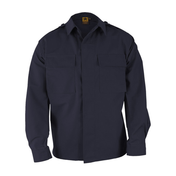 Propper F545238405 Long Sleeve 2-Pocket BDU Shirt, Dark Navy
