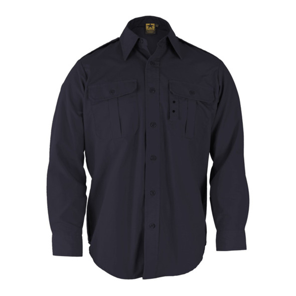 Propper F530238405 Long Sleeve Tactical Dress Shirts, Dark Navy