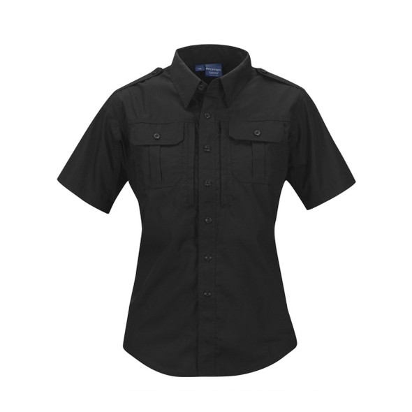 Propper F530450001 Womens Short Sleeve Tactical Shirt, Black