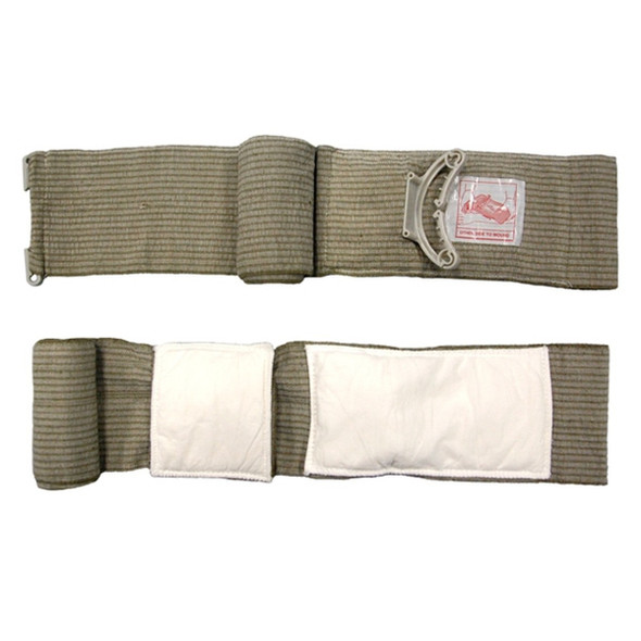 "PerSys Emergency Medical Bandage w/ Mobile Pad 6"" Green"