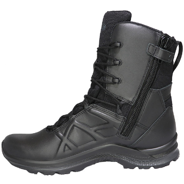 "Haix Men's Black Eagle Tactical 2.0 GTX High Side Zip Waterproof 8"" Boots"