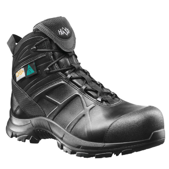 "Haix Black Eagle Safety 52 Mid Black Waterproof 6"" Boots"