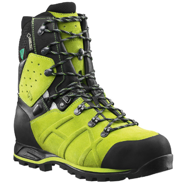 "Haix Protector Ultra Lime Green Waterproof 8"" Boots"