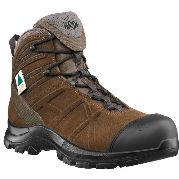 "Haix Black Eagle Safety 52 Waterproof Mid Brown 6"" Boots"