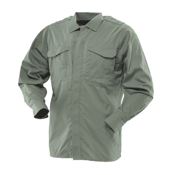 Tru-Spec 1054 24-7 Men's Ultralight Long Sleeve Uniform Shirts, Olive Drab