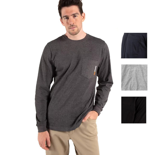 Timberland Men's Pro Base Plate Wicking Long Sleeve T-Shirt