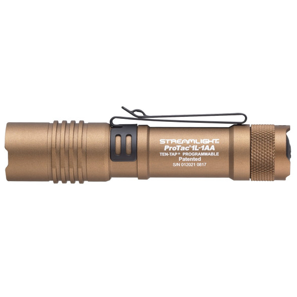 Streamlight ProTac 1L Dual Fuel Programable Flashlights Tan