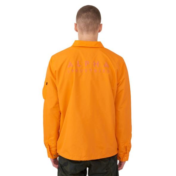 Alpha Industries Lightweight Coaches Jacket, Emergency Orange
