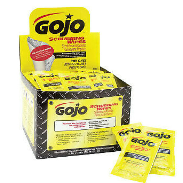 GoJo Scrubbing Wipes Individually Wrapped 80ct