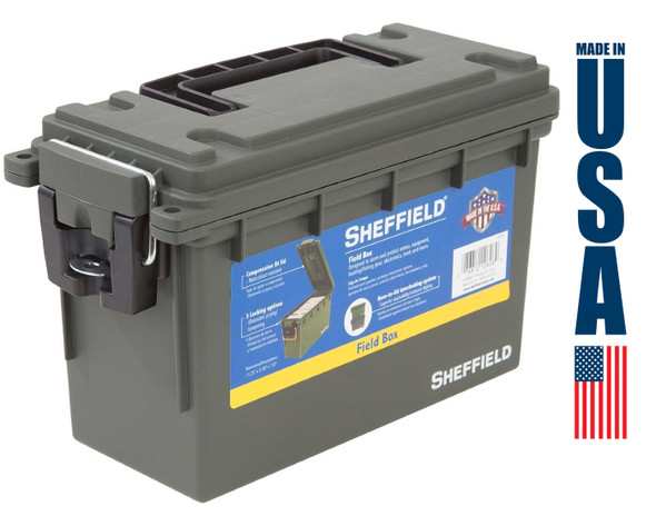 Sheffield Stackable Locking Field Ammo Boxes 6/Pack