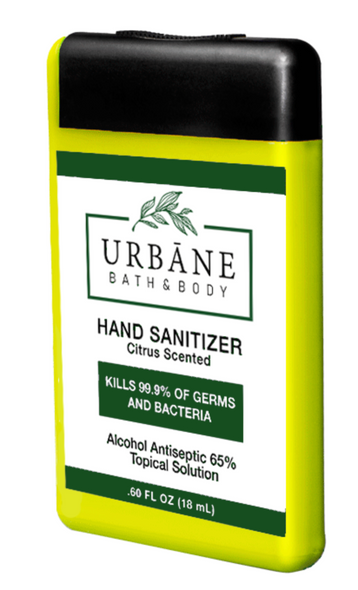 Urbane Antibacterial Pocket Hand Sanitizer .6oz 6/Pack
