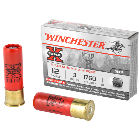 Winchester Super X 12GA Rifled Slug Ammuntion 5rd