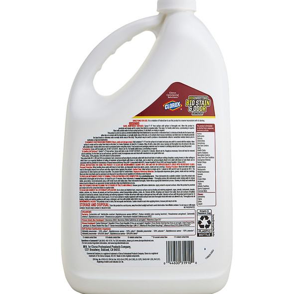 Clorox Disinfecting Bio Stain & Odor Remover 128 oz 4/Pack
