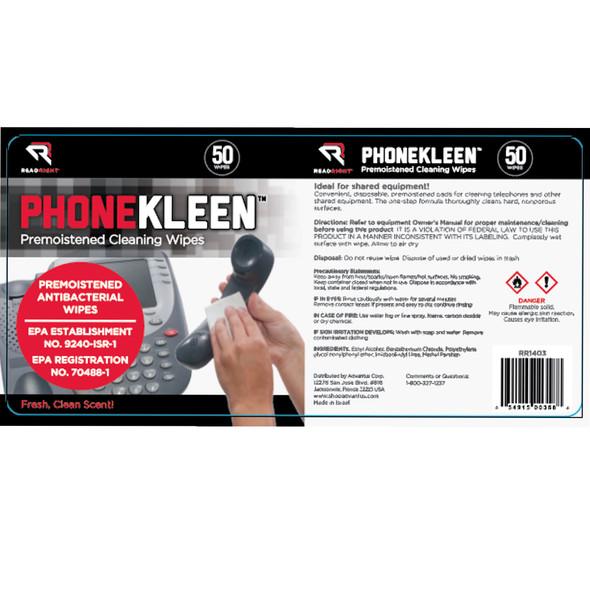 Read Right PhoneKleen Electronic Antibacterial Wipes