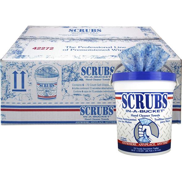 Scrubs Hand Cleaner Towels 72 Wipes