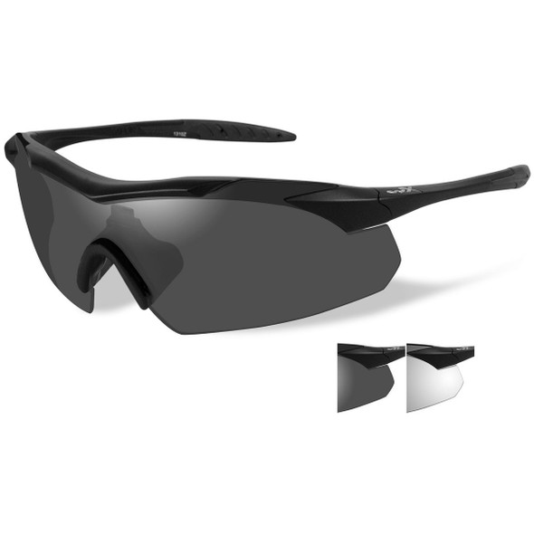 Wiley X WX Vapor Grey/Clear/Matte Black Frame