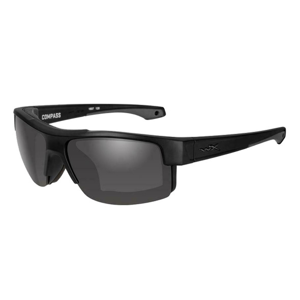 Wiley X Compass Sunglasses Grey Lens/Matte Black Frame