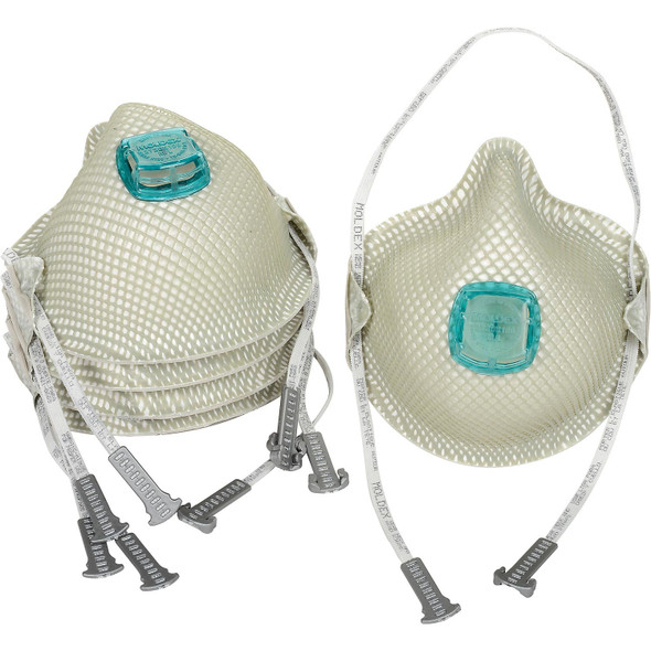 Moldex 2730N100 Particulate Respirators With HandyStrap & Ventex Valve 5/Pack
