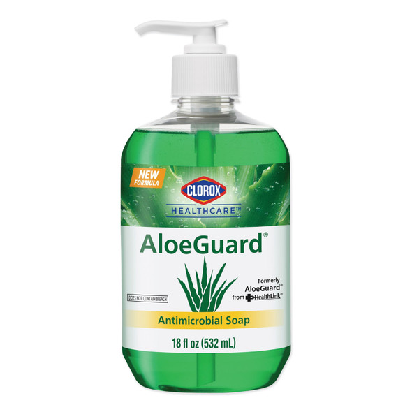 Clorox Healthcare 32378 AloeGuard Antimicrobial Soap, 18 oz Pump Bottle