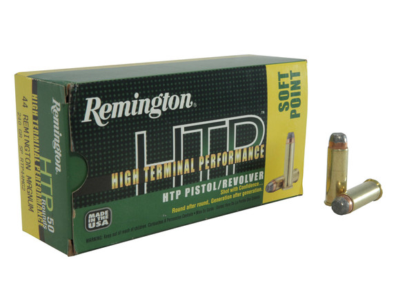 Remington HTP 44Mag 240GR JSP Ammunition 50rds