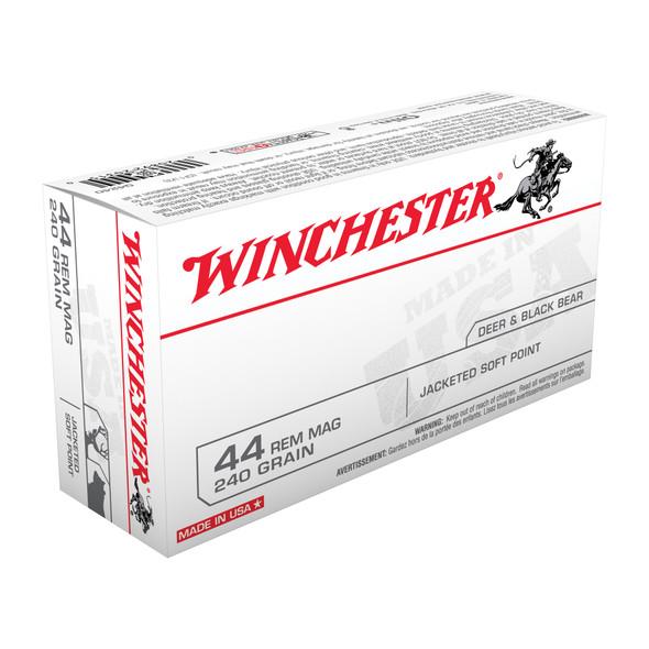 Winchester Q4240 44MAG 240GR JSP Ammunition 50Rds
