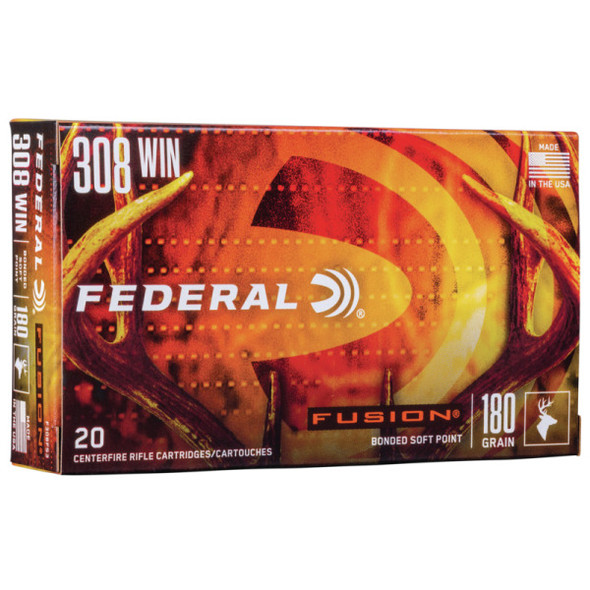 Federal Fusion 308WIN 180GR FSP Ammunition 20 Rounds