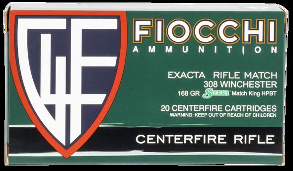 Fiocchi Exacta Match 308 Winchester 168GR BTHP Ammunition 20 Rounds