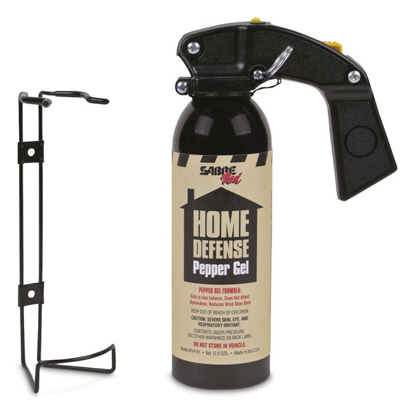 Sabre Pepper Gel Home Defense Pepper Gel w/Wall Mount