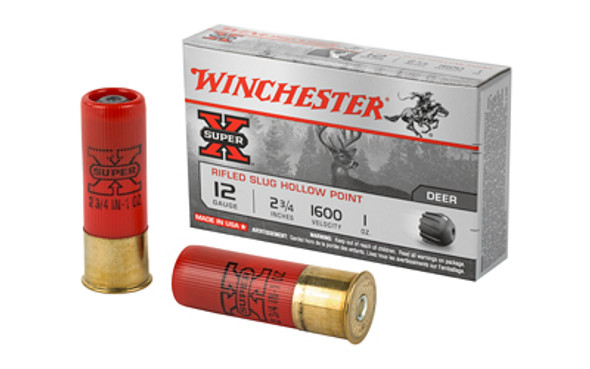 "Winchester Super-X Rifled HP Slug 12GA 2.75"" Ammunition 5 Rounds"