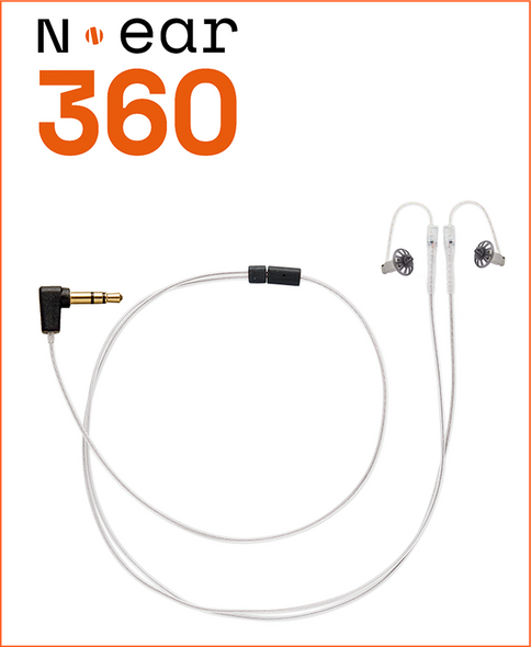 N-Ear 360 Dual Ear Earpiece w/3.5mm Connector