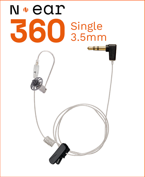 N-Ear 360 Single Ear Earpiece w/3.5mm Connector