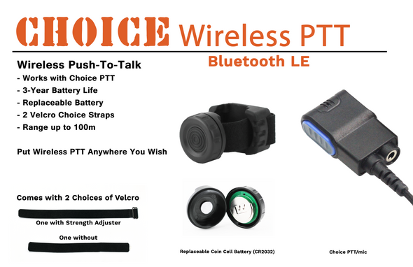 N-Ear Wireless PTT, Bluetooth LE, Water Proof IP67