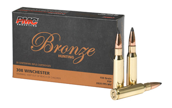 PMC Bronze 308 Winchester 150GR SP Ammunition 20 Rounds