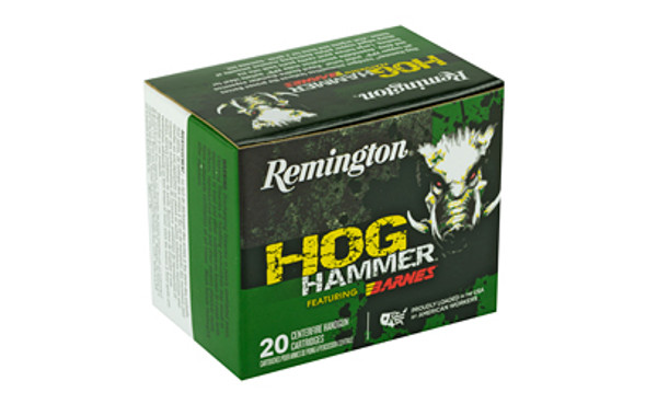 Remington Hog Hammer 41 Remington Mag 180GR Barnes XPB Ammunition 20 Rounds
