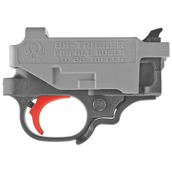 "The BX-Trigger is a light, crisp, ""drop-in"" replacement trigger assembly that is compatible with all Ruger 10/22 rifles and 22 Charger pistols. The BX-Trigger is a Genuine Ruger Factory Accessory and is the perfect upgrade for all 10/22 rifles and 22 Charger pistol models because of the significantly reduced pull weight of approximately 2.75 lbs. The BX-Trigger is sold as a complete assembly that drops in to replace the existing trigger assembly."