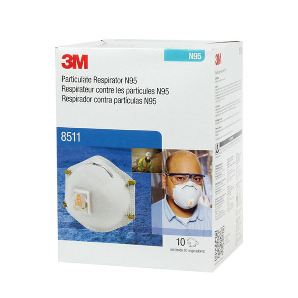 3M N95 Particulate Respirator  w/Cool Flow Exhalation Valve 10/Pack