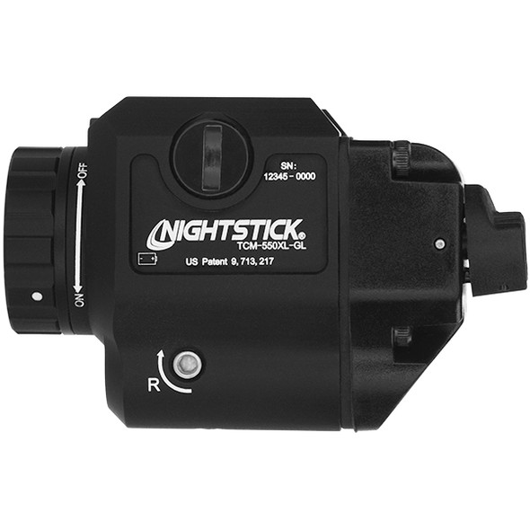 NightStick Compact Weapon-Mounted Light w/Green Laser