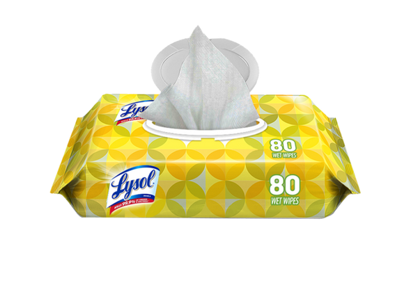 LYSOL Disinfecting Wipes Lemon & Lime Blossom 80/Count Kills 99.9% Bacteria & Viruses