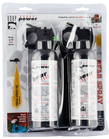 UDAP BS2 Bear Spray 2 Pack OC Pepper 30ft Range