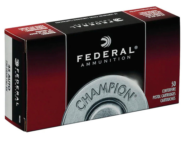 Federal Champion 45 ACP 230GR FMJ Ammunition 50 Rounds