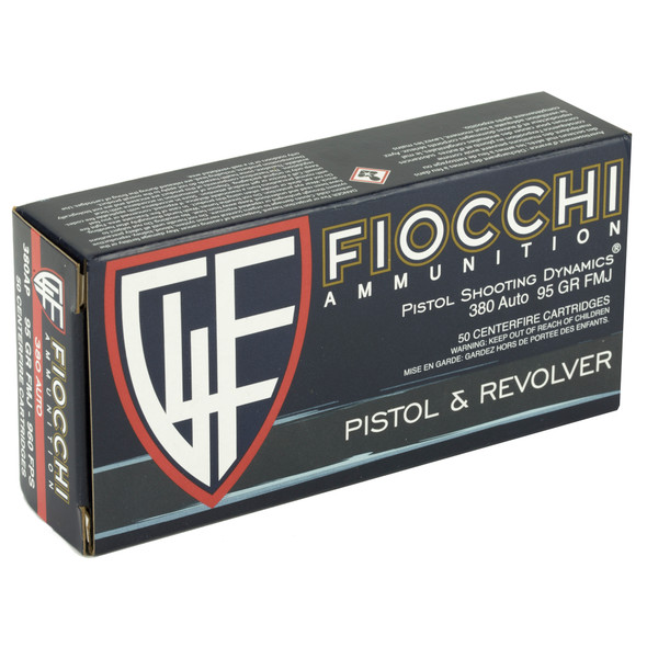 Fiocchi Training Dynamics 380 ACP 95GR FMJ Ammunition 50 Rounds